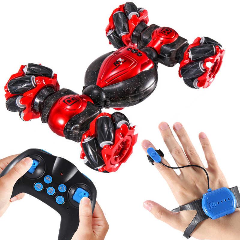 Afstandsbediening Stunt Auto Gebaar Inductie Draaien Off-Road Voertuig Licht Muziek Drift Dansen Side Driving Rc Speelgoed Gift voor Kids
