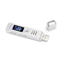 8GB HD Digital Voice Recorder Multifunction USB Plug Professional Metal MP3 Player Audio Playback Repeater Recording Pen Stick