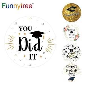 Image 1 - Funnytree fondo redondo con tapa de graduación para sesión fotográfica, papel tapiz de bebé, decoración para sesión fotográfica