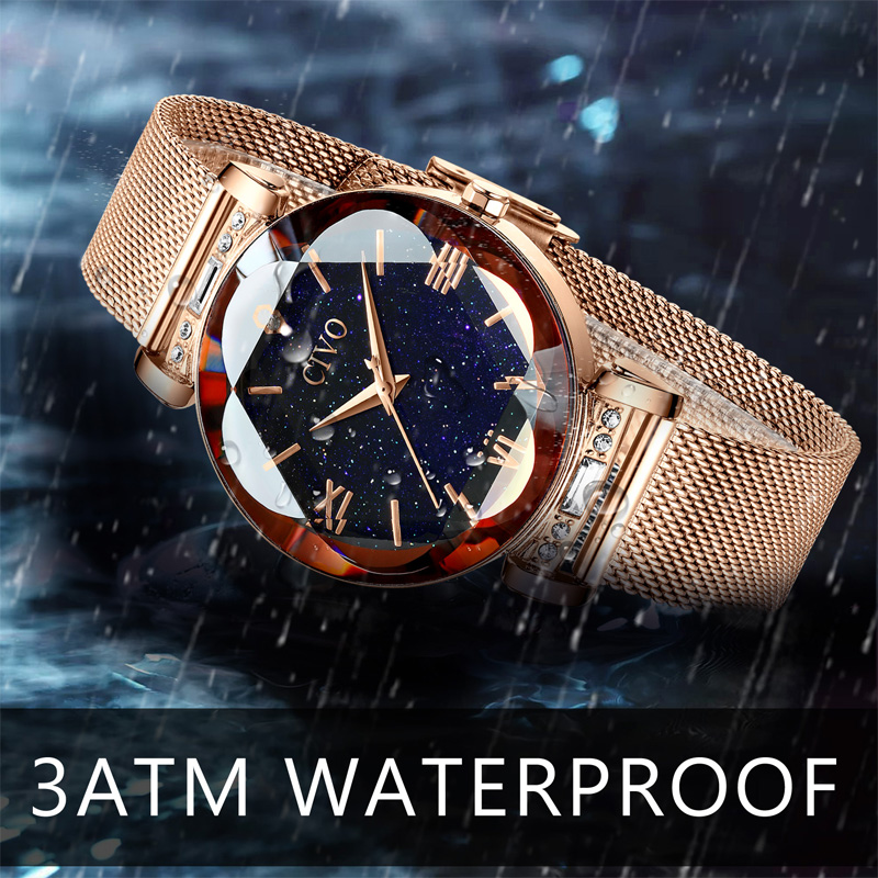 Image 4 - CIVO fashion women watch luxury waterproof wrist watches for women crystal quartz watch 2019 ladies gift clock Relogio FemininoWomens Watches   -