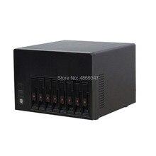 2020 nova casa de armazenamento quente-swap nas servidor chassis ipfs 8 hdd baías caso suporte mini-itx placa-mãe e gpu cartão de computação em nuvem
