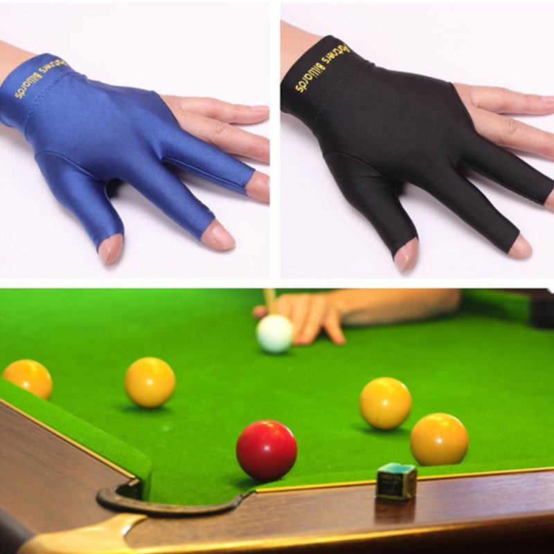 1 Pcs Three-finger Gloves Billiards Snooker Billiard Cue Glove Pool Left Hand Open Three Finger Fitness Accessories2