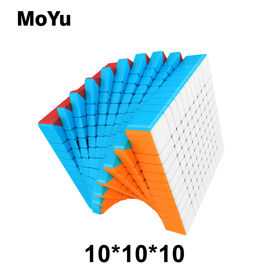 MOYU Meilong Stickerless <font><b>10*10*10</b></font> Magic Cubes Speed Puzzle 10 Layers Cube Educational Toys Gift cubo magico 84mm image