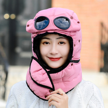 NEW Winter Warm Lai Feng Hat Men Protect Ears Women Wind-proof Glasses girls bomber