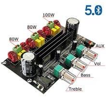 Bluetooth 5.0 2*80w + 100w tpa3116d2 potência subwoofer amplificador placa 2.1 canais tpa3116 áudio estéreo