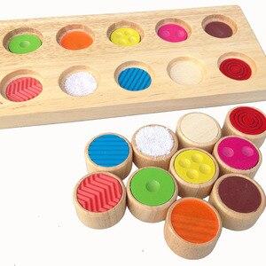 Multifunctionele Memory Board Blokken Bieden Vvarious Training Leren Baby kleurherkenning touch bijpassende geheugen Blokken speelgoed