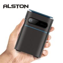 ALSTON P20 Mini projektor 4K DLP Android WiFi Bluetooth przenośny zewnętrzny film do projekcji w domu kino wsparcie Miracast Airplay tanie tanio UNIC Brak CN (pochodzenie) 4 3 16 9 Focus 854x480 dpi 2000 lumenów 20-120 cali 2000 01 00 Rozrywki Projektora Rzucanie
