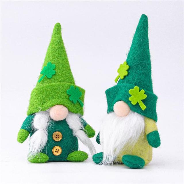 St. Patrick's Day Gnome Plush Doll Faceless Green Clover Gnomes Doll Irish Day Party Decor Saint Patricks Day Gifts 1