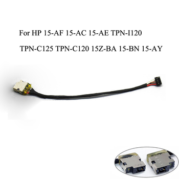 New For HP 15-AF 15-AC 15-AE TPN-I120 TPN-C125 TPN-C120 15Z-BA 15-BN 15-AY DC Power Jack Cable Charging Connector Port Wire Cord image