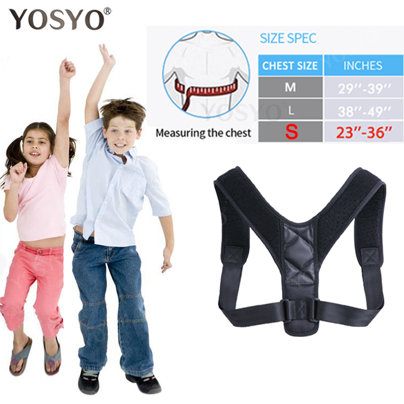 YOSYO Adjustable Back Posture Corrector Spine Back Shoulder Lumbar Brace Support Belt Posture Correction Back Blet No Slouching