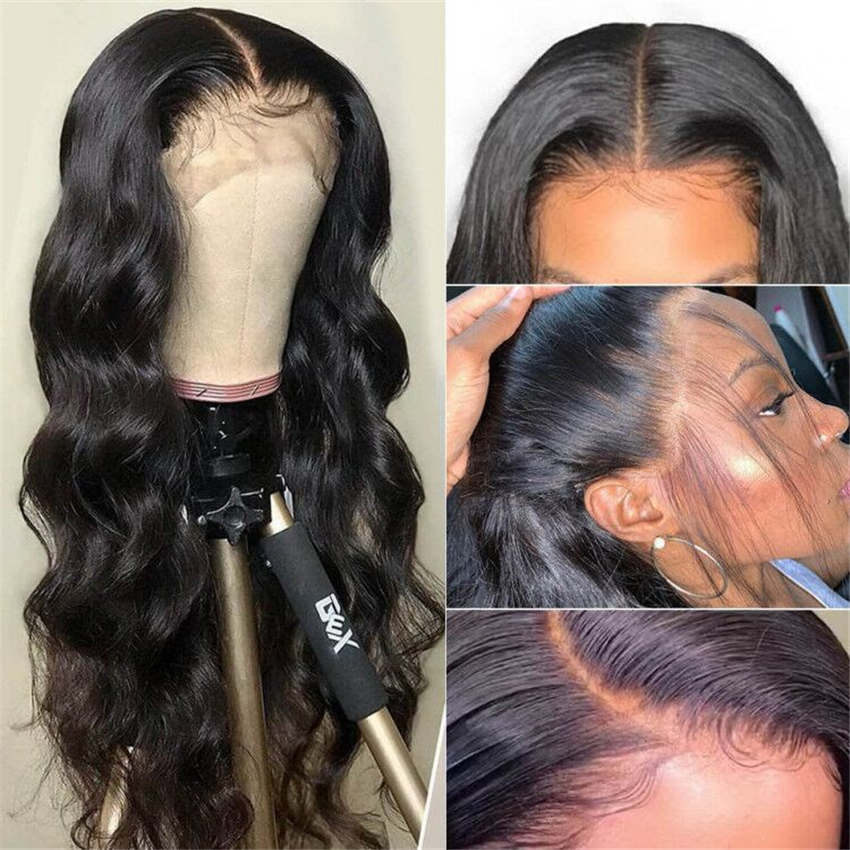 Lace Frontal  Wig 13*4 Pre Plucked With Baby Hair  Body Wave  Wigs  Hair 360 Lace Frontal Wigs 1