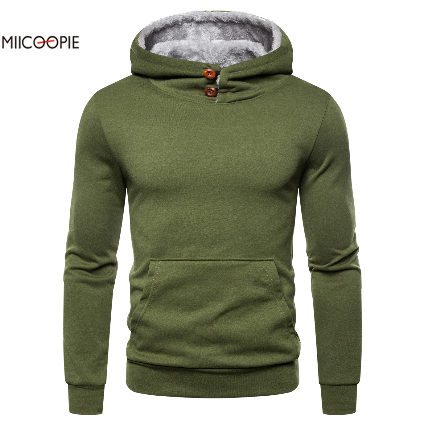 Miicoopie 2019 Mens Hoodies Autumn New Men's Long Sleeve Fleece Pullover Hoodie Sweatshirt