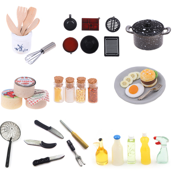 1set or 1pc Cooking Board Knife Chopping Block Pretend Play Kitchen Toy 1: 12 1:6 Scale Miniature For Doll House image