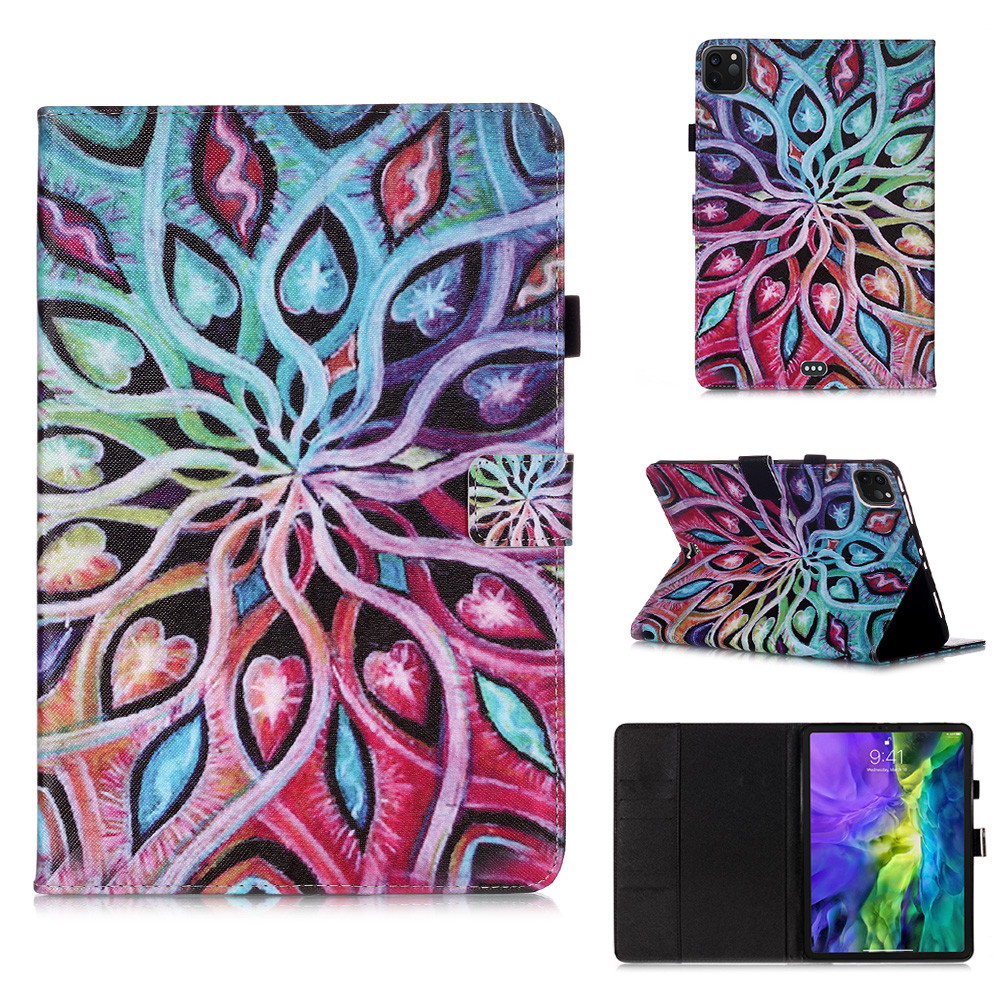 7 Gray Owl Flowers Tablet Cover For iPad Pro 11 Case 2020 Coque Wallet Stand Tablet Funda For