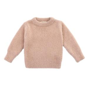 Image 1 - Girls Sweaters Winter Wear New Style Imitation Mink Jacket Sweater 1 3 Year Old Baby Warm Coat Kids Sweaters