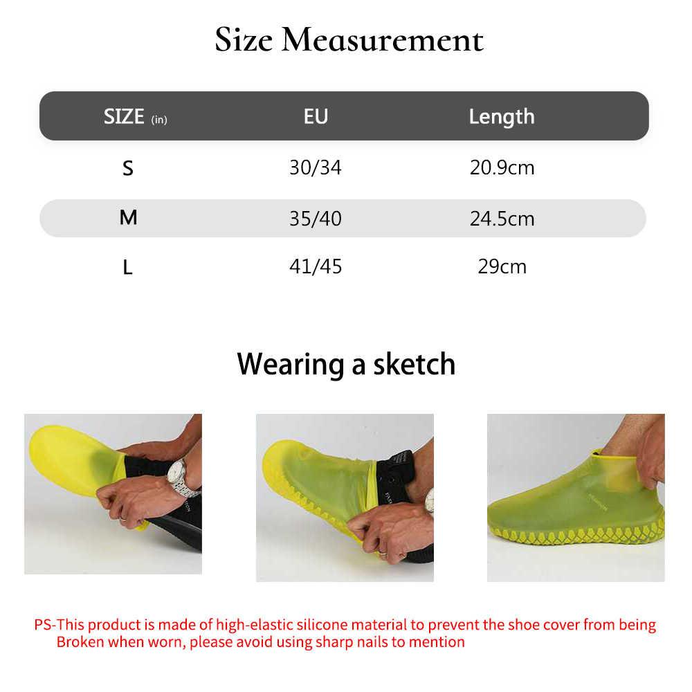 Waterdichte Schoen Covers Fietsen Regen Herbruikbare Overschoenen Anti-Slip Siliconen Elastische Schoen Covers Beschermen Schoenen Accessoires 1 Paar