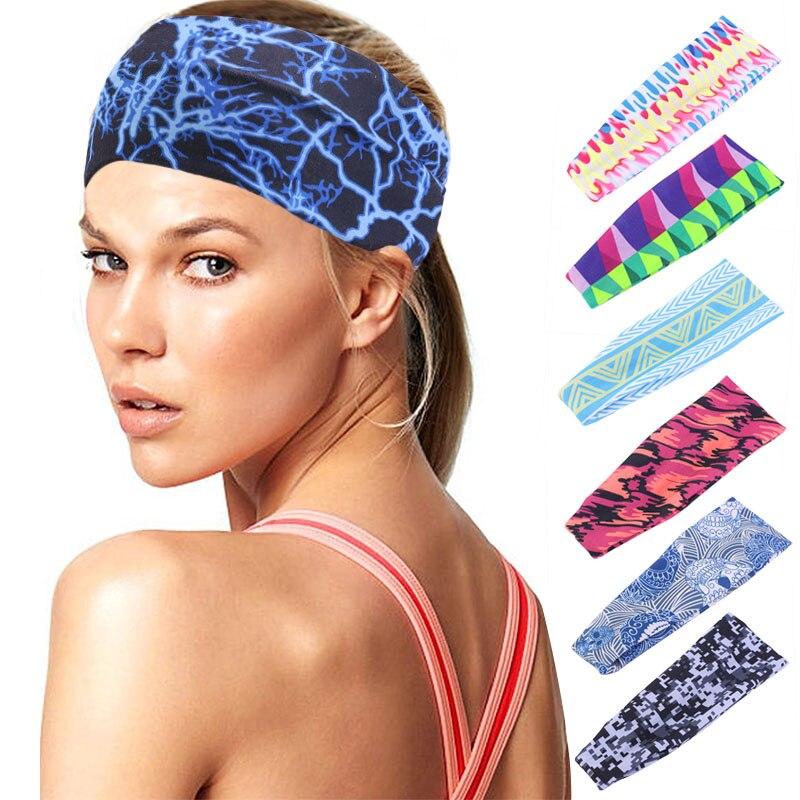 Headwear Headband Colored Circles Head Scarf Wrap Sweatband Sport Headscarves For Men Women