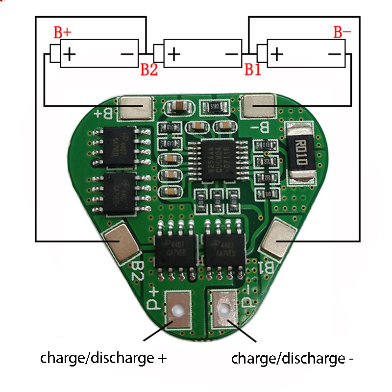 <font><b>3S</b></font> 12V 18650 Lithium Battery Protection <font><b>Board</b></font> 11.1V 12.6V overcharge over-discharge protect 8A 3 Cell Pack Li-ion BMS PCM PCB image