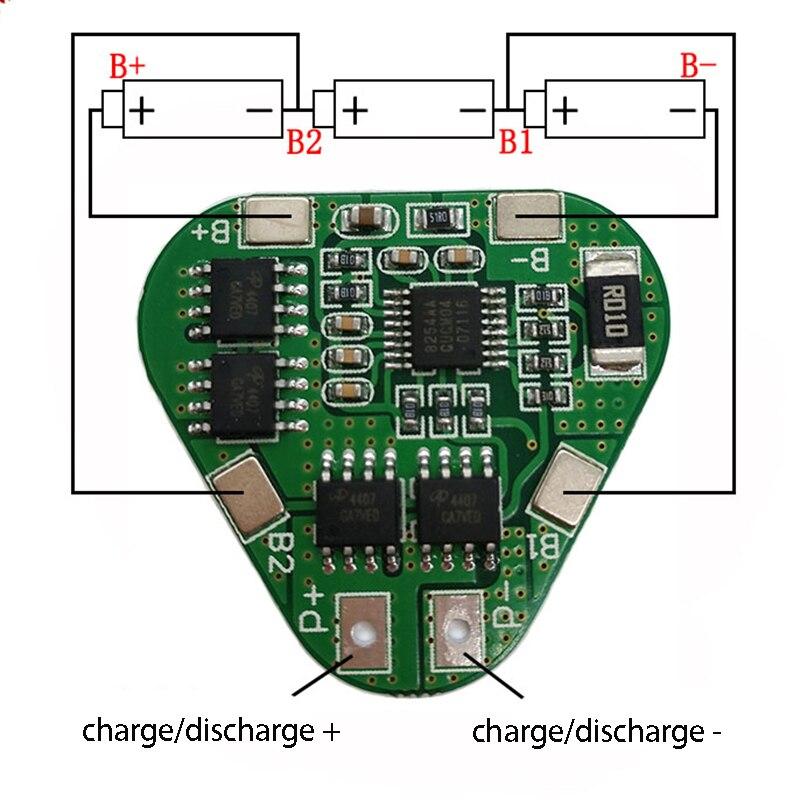 3S 12 В 18650 Защитная плата литиевого аккумулятора 11,1 В 12,6 в защита от перезаряда 8A 3 ячейки упаковка Li-Ion BMS PCM PCB