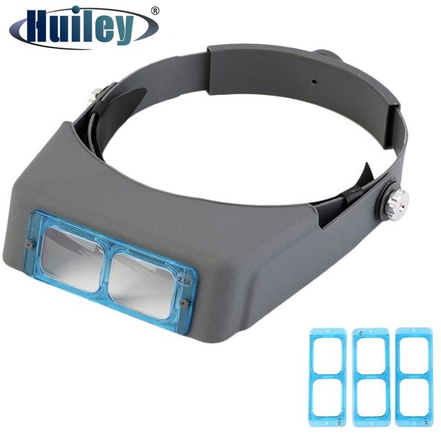 Head Wearing Glasses Magnifier for Low Vision Headband Eyewear Loupe Repair Third Hand Helmet Magnifying Glass Spectacles