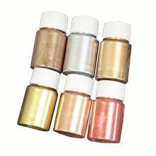 6 Colors Marble Metallic Resin Pigment Kit Pearl Powder Epoxy Resin Colorant Dye B85B
