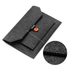Image 3 - Fashion Wool Felt Laptop Sleeve Bag Notebook Handbag Case For Macbook Air Pro Retina 11 12 13 15 Lenovo Asus HP Laptop Liner Bag