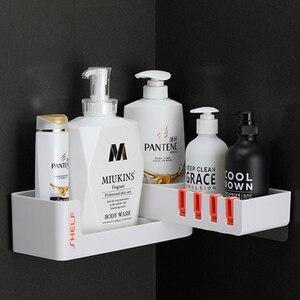 Image 4 - Bad Regal Ecke Regale Shampoo Halter Küche Lagerung Rack Chaos Dusche Organizer Wand Halter Raum Schoner Haushalts Artikel