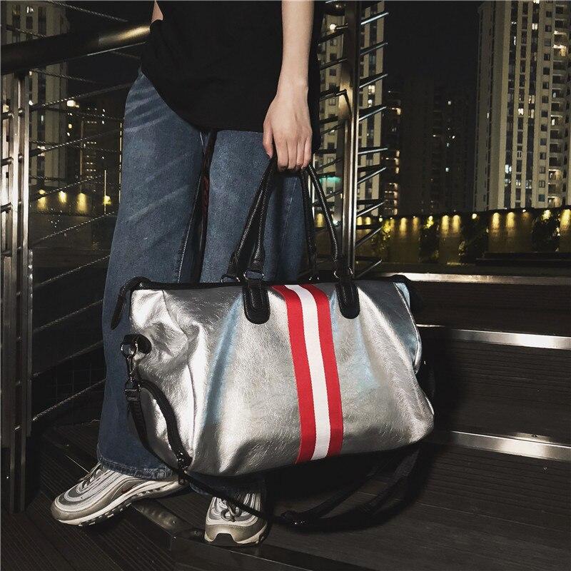 A New Type Of Colored Belt Travel Bag, PU Leather, Korean Version, Large Capacity Handbag, Fitness Sports Bag, Single Shoulder