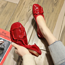 Soft and comfortable PU women small leather shoes sexy ballet flat fashionable outdoor casual walking