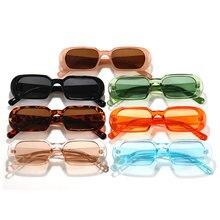 1 pçs pequenos retângulo óculos de sol unisex feminino na moda do vintage marca designer hip hop quadrado óculos de sol feminino