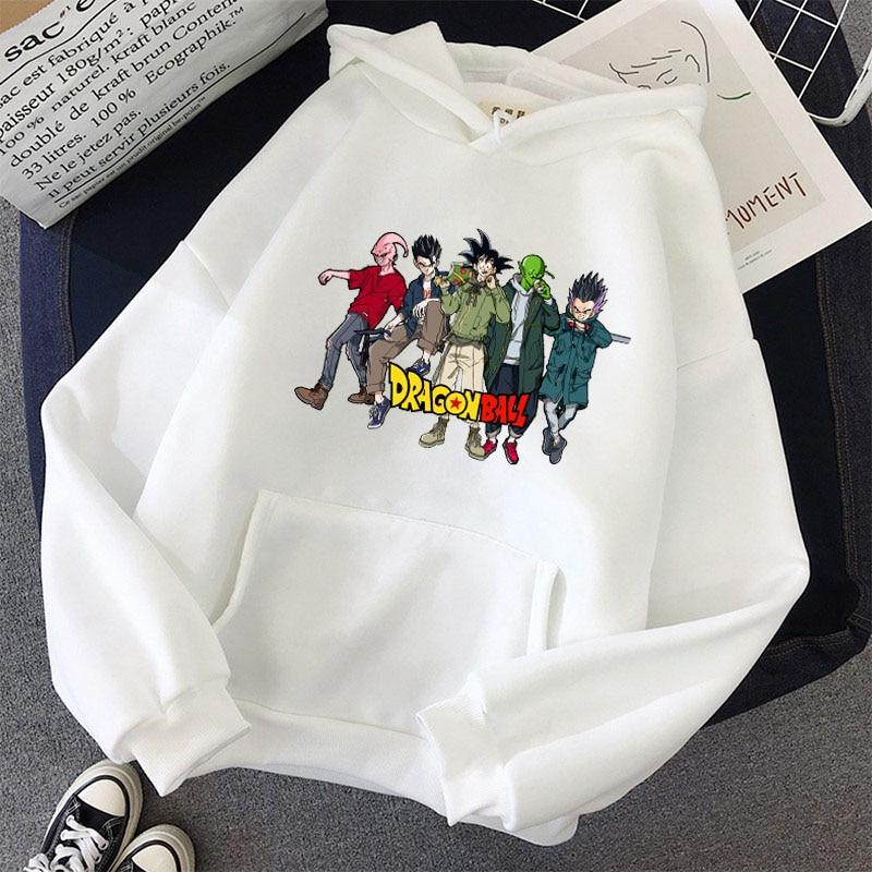 Japanese Anime Printed Hoodies 2021 Spring Autumn Long Sleeve Hoodie Women Cartoon Graphic Streetwear Sweatshirts Female Tops 27