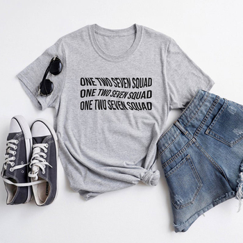 grey one two seven squad womens tshirt
