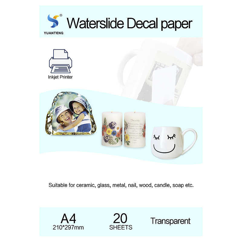 20 Sheets DIY A4 Inkjet Water Slide Decal Paper Transparent Clear For Printer