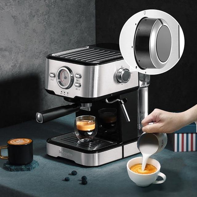 20bar Espresso Machine Household Semiautomatic Visualization Full Temperature Control Milk Foam Italian Filter 20 Second Heat 1