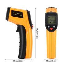Бесконтактный цифровой ЖК-Инфракрасный термометр пистолет ИК лазерная точка тепловая инфракрасная температура изображения ручной измеритель пирометр