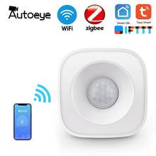 Autoeye WiFi Human Body Sensor Wireless Smart Body Movement PIR Motion Sensor Zigbee Use With Gateway Tuya Smart Life App