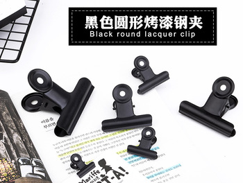 10 pieces of black white metal iron ticket folder stationery office supplies household fixed small folder sketch board clip hypersonic black helmet design spring type car ticket clip for office hotel
