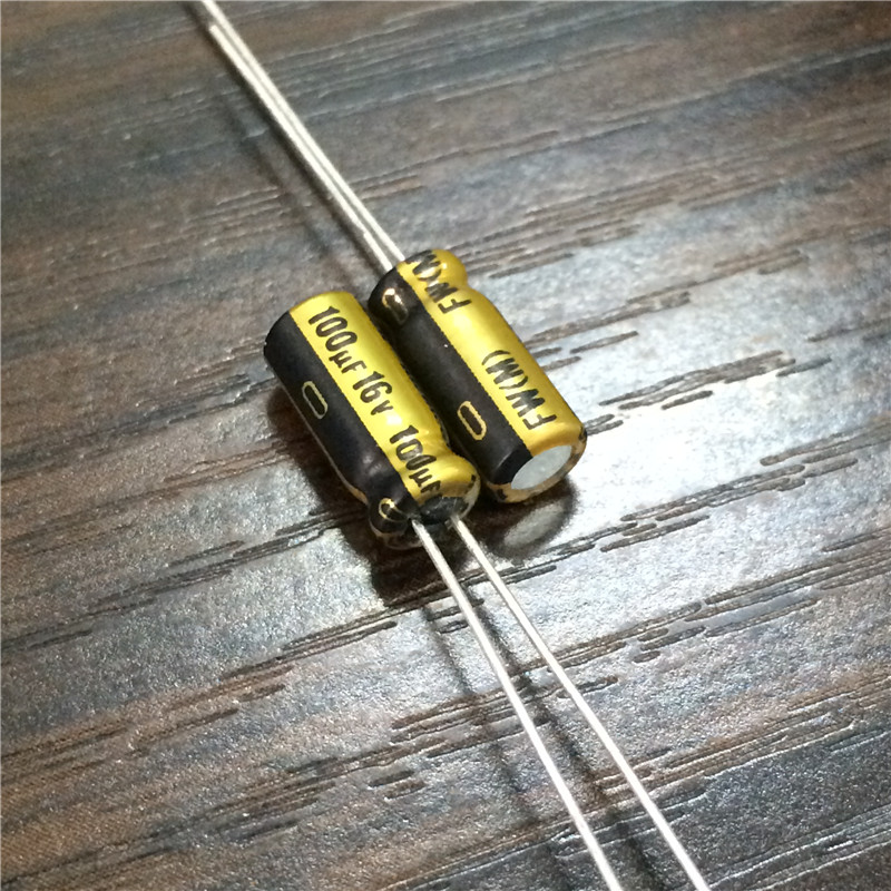 10pcs 100uF 16V NICHICON FW Series 5x11mm 16V100uF Audio Aluminum Electrolytic Capacitor