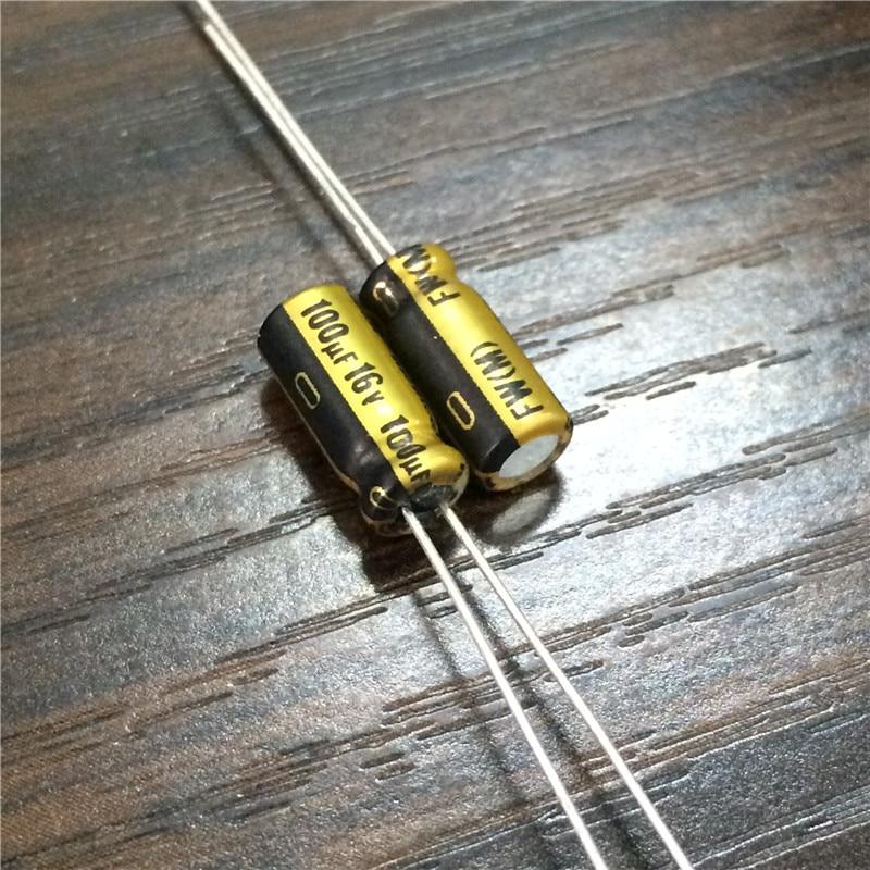 10pcs 100uF 16V NICHICON FW Series 5x11mm 16V100uF Audio Aluminum Electrolytic Capacitor