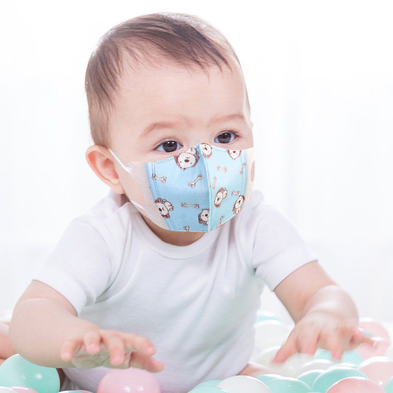 Baby Health Care Four Layer Filter Mask For 0-12 Years Old Kids Disposable 3D Cute Cartoon Printed Dust Respirator Mask For Baby