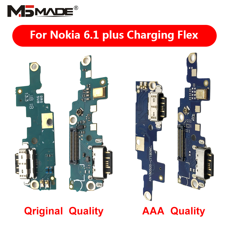 For Nokia X6 6.1 Plus TA-1099/1103 Type-C USB Charging Port Charger Dock Antenna Connector Mic Flex Cable Circuit Board