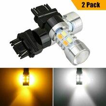 3157 Turn Signal Lamp Switchback LED Bulb DRL White/Amber Switchback Turn Signal Parking Light Bulbs Dual Color Light Shockproof