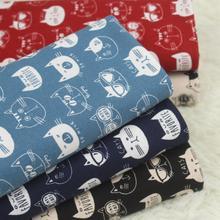 90*110 см с изображением кота детский Фабричный твиловая, хлопковая ткань из хлопка и льна, ручная работа, «сделай сам» Лоскутная работа сумка из ткани