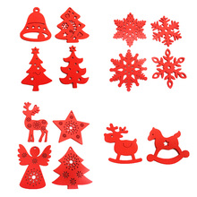DIY Christmas Scrapbooking Accessories Xmas new Year Christmas Tree Hanging Ornaments Wooden Crafts Assorted Styles Pack 10pcs attachment accessories for dx led christmas lights assorted 10 pack