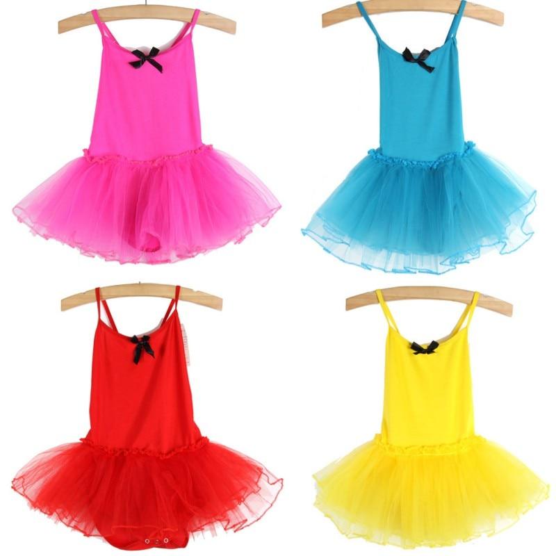 New Cute Child Girls Dance Dress Tutu Skirt Ballet Swan Show Sling Skirts