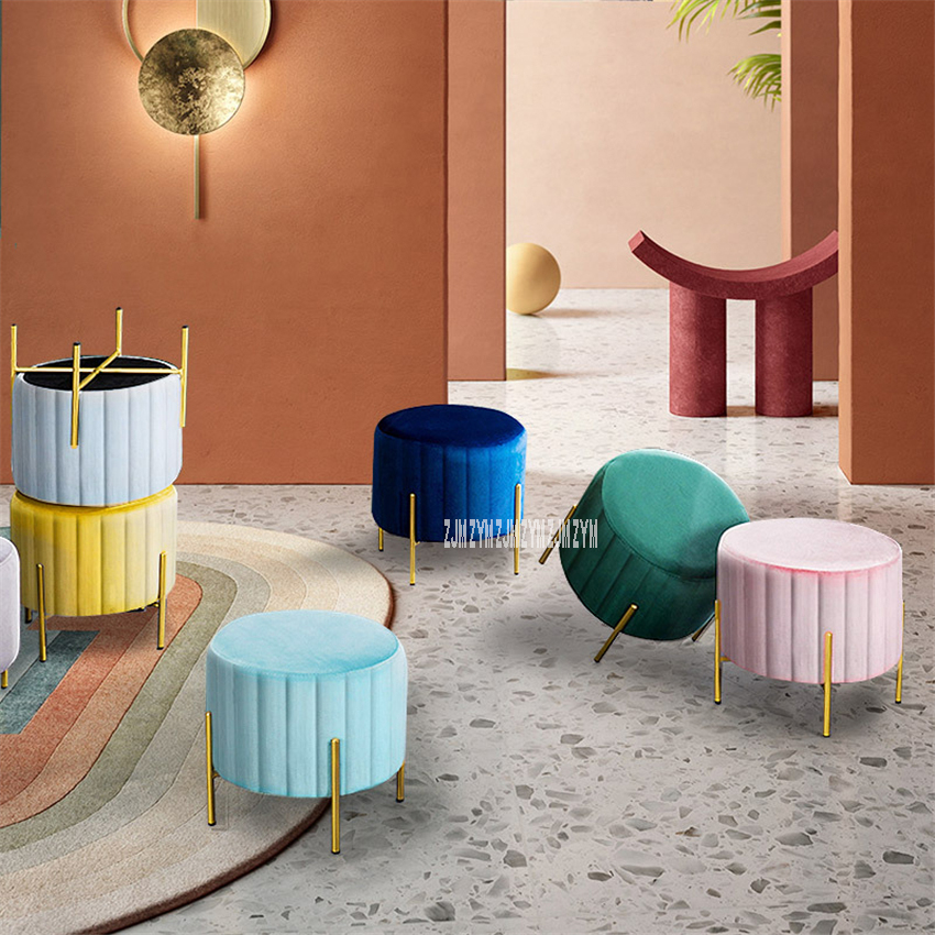 TM-XDZ-217 Modern Simple Creative Fabric Change Shoe Bench Stool Home Doorway Clothing Store Fitting Room Small Sofa Footstool