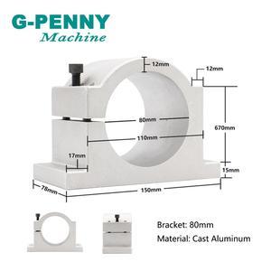 Image 4 - G PENNY 2.2KW ER20 水冷スピンドルキット CNC スピンドル 4 ベアリング & 2.2KW インバータ VFD & 80 ミリメートルスピンドルブラケット & 75 ワット水ポンプ