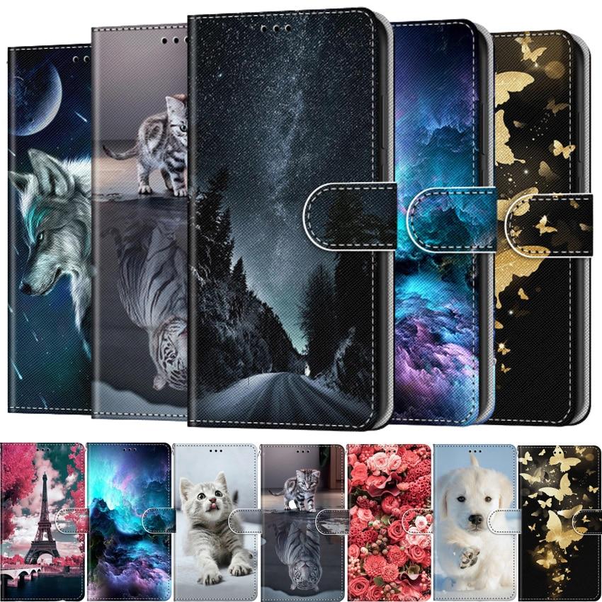 Кожаный чехол-книжка YiKELO для Huawei Y3 Y5 Y6 Y7 Y9 Prime 2017 2018 219, чехол-бумажник для телефона, чехол с рисунком Etui