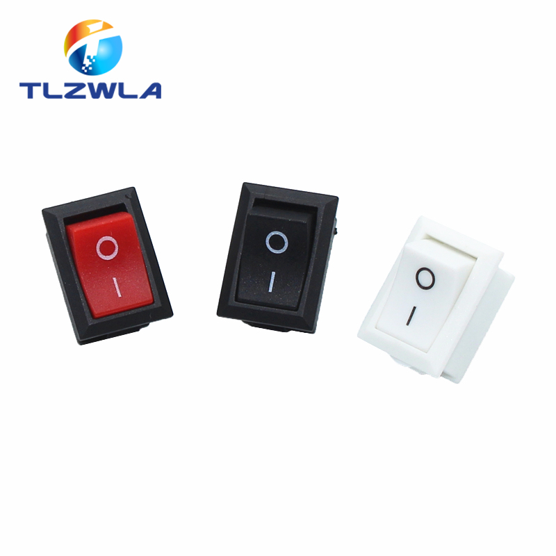 1pcs Switch ON-OFF KCD1 15*21mm 2pin Ship Type Switch 6A 250V 10A 125V 15X21 Rocker Switch Power Switch