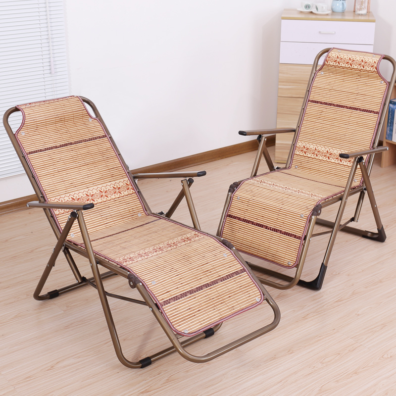 Summer Cool Recliner Folding Single Lunch Break Chair Bamboo Chair Office Home Portable Siesta Chair Bamboo Chair